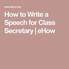 Creative Class President Speech Ideas