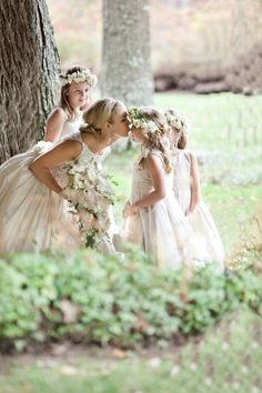 "Pictures like this make me want multiple flower girls & ring bearers :-) I'm thinking... ""hey! I have 5 nieces and 4 nephews.   It could work!"""