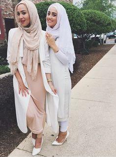 Maria Alia hijabi fashionista. I like the beige one with the white sweater.