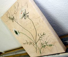 Queen Annes Lace Hand Embroidery Home Decor by Waterrose on Etsy, $96.00