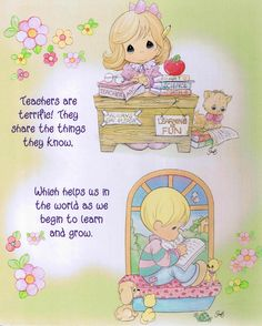Posts about Teacher written by money. Precious Moments Coloring Pages, Precious Moments Quotes, Precious Moments Figurines, Comic Pictures, Cute Images, Teacher Appreciation, Cute Kids, Teacher Gifts, Craft Projects