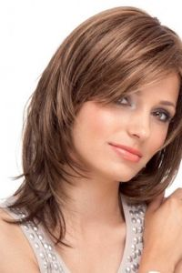 Natural Straight Lace Front Remy Human Hair Shoulder Length Wig