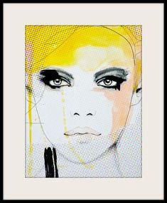Ruse Fashion Illustration Art Print Woman Portrait por LeighViner