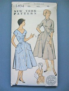 Vintage 1950s sewing pattern by New York Pattern 1404 by Fancywork, $15.00