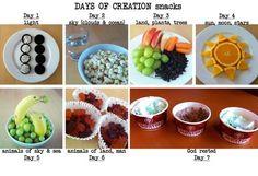 (mfw k) my fathers world kindergarten - days of creation snacks