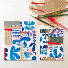 This year Illustrator Lisa Congdon committed herself to Experiments in Blue. Find my favorite paintings by Lisa shared on the blog today! Sketchbook Project, Art Sketchbook, Art Sketches, Art Drawings, Guache, Art Journal Pages, Art Journaling, Art Journal Inspiration, Collage Art