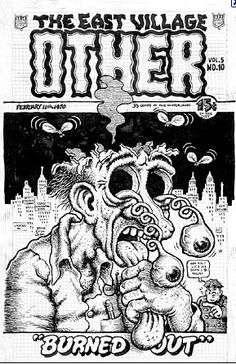 """A cover for the """"East Village Other"""" news print out of New York."""
