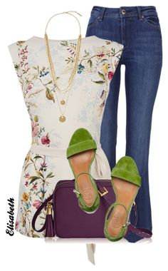 """""""Tunic Top + Wedges"""" by lbite1 ❤ liked on Polyvore"""