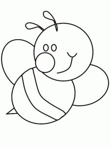 Bumble Bee Coloring Pages Bee Template, Applique Templates, Applique Patterns, Applique Designs, Bee Coloring Pages, Animal Coloring Pages, Coloring Sheets, Coloring Books, Motifs D'appliques