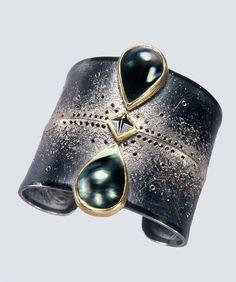 michael zobel - silver, gold, platinum, mabe pearls, black diamond