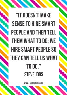 Words of inspiration and value. Look to your team for #BusinessGrowth #business #entrepreneur #SteveJobs #QOTD
