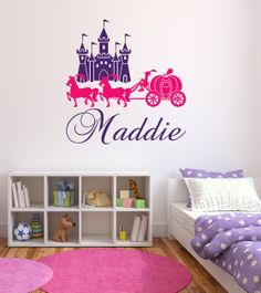 Wall Decal Name Wall Decal Princess Castle by LovelyDecalsWorld, $25.00