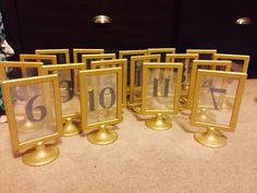 Show me your Ikea Tolsby Frame Table Numbers Ikea Tolsby Frame, Ikea Frames, Framed Table Numbers, Wedding Table Numbers, Ikea Table, Diy Table, Wedding Frames, Diy Wedding, Wedding Bells