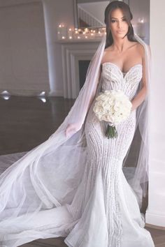 Stunning Embellished Strapless Sweetheart Mermaid Wedding Dress / Bridal Gown Open Back and Long Train. Dress by Pallas Couture Fit And Flare Wedding Dress, Sweetheart Wedding Dress, Elegant Wedding Dress, Dream Wedding Dresses, Bridal Dresses, Mermaid Wedding, Wedding Gowns, Mermaid Sweetheart, Lace Wedding