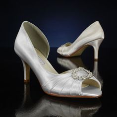 TOUCH UPS IVANNA-318 WHITE, IVORY Wedding and Bridesmaids Shoes WHITE, IVORY Bridal Shoes