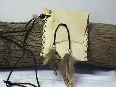 FREE SHIPPING Deerskin Leather Black Powder, Sage Bag, Medicine Pouch