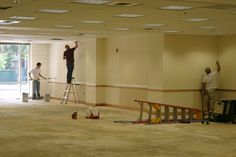 May 31st – The painting crew is getting a good start on the walls.