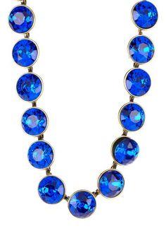 Cobalt Blue Gem Necklace