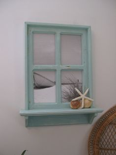 Adding a window to any blank wall :) Could do this in my office/sewing room! Could be at the beach all the time!