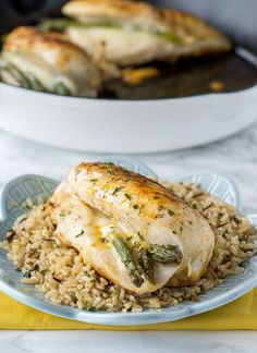 Asparagus Stuffed Chicken Breast comes together! It's quickly seared ...