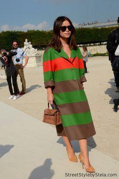 stripe on. Miss Mira in Paris. #MiroslavaDuma