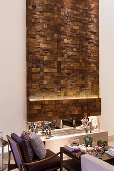 Mosaico Madeyra - Castelatto Atlantic City, Drawing Room, Design Interiores, House, Industrial, Home Decor, Electric Wood Stove, Dream Homes, New Houses