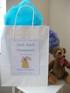 Personalised Christening, Naming Day, Baptism, Baby Shower Gift Bag £1.45
