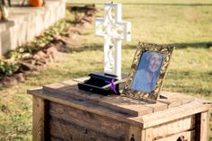 We decided to opt our on the traditional unity candle or the sand. I love that we chose the unity cross. Best decision we made. #farmwedding #countrywedding