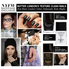 """Butter London's Beautiful (and Easy) Texture Clash Nails"" by polyvore-editorial ❤ liked on Polyvore"