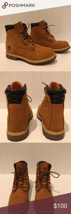 Women's Timberlands -Women's wheat colored timberlands -Fairly new Timberland Shoes Ankle Boots & Booties
