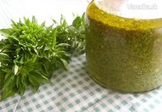Bazalkové pesto (fotorecept) Pesto, Bruschetta, Chutney, Cornbread, Ale, Cooking Recipes, Pudding, Homemade, Canning
