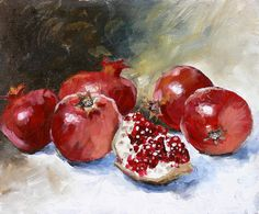 Pomegranate Painting by Tanya Jansen - Pomegranate Fine Art Prints and Posters for Sale