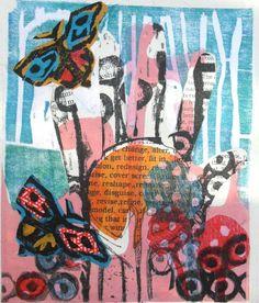 'Letting go' Monoprintby Sophie Fordham