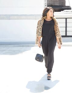 Keep things toasty and your look totally cool in a modern style jumpsuit and a faux-fur leopard print jacket. There's no better way to add chic and edge to your look than with a crossbody bag featuring croc-embossed print. Want to see the latest trends this fall season? Click the link below to see more!