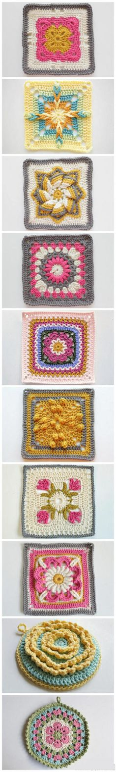 Crochet dessin carré