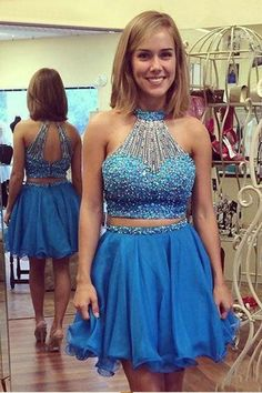homecoming dresses short prom dresses party dresses hm0145 · bbhomecoming · Online Store Powered by Storenvy Freshman Homecoming Dresses, Two Piece Homecoming Dress, Blue Homecoming Dresses, Prom Dresses Two Piece, Prom Dresses 2018, Graduation Dresses, Prom Gowns, Short Strapless Prom Dresses, Dresses Short