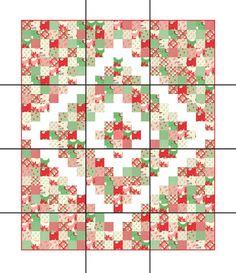 Christmas Quilt Patterns, Patchwork Quilt Patterns, Scrappy Quilts, Easy Quilts, Christmas Quilting, Quilting Patterns, Quilting Ideas, Jellyroll Quilts, Patchwork Fabric