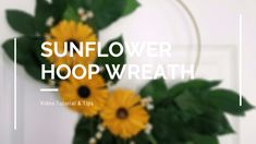 Sola Sunflower Wreath Tutorial using Lemon Leaf Salal and Ammobium as well as wood sola sunflowers from curiouscountrycreations.com