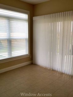 Hunter Douglas Silhouette and Luminette are the perfect companions in a room with both windows and doors.