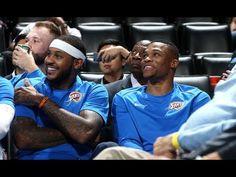 Westbrook, Carmelo and George Make Preseason Debut - YouTube