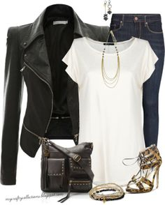 Women's #Outfit: Leather & Leopard - Featuring items from Amazon, Target, H&M, Steve Madden, MANGO, and Boscov's.