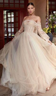 Courtesy of Galia Lahav Wedding Dressses; Photographer: Greg Swales
