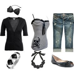 Black and White, created by tattedpunky on Polyvore