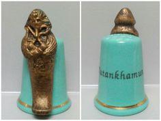 Dedal de porcelana, Tutankhamun en estaño pintado a mano