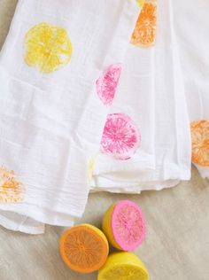 DIY Citrus Painted T