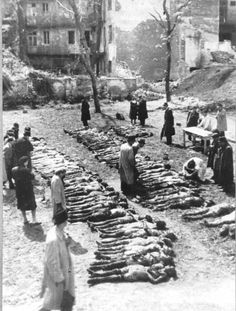 Patients and doctors murdered in the Jewish hospital in Maros street (Budapest, 1945).