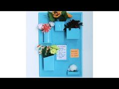 How To Recycle Material Into A Wall Organizer - YouTube