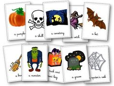 halloween anglais Flashcards Plus Halloween Vocabulary, Halloween Games, Halloween Crafts, English Lessons, Learn English, Vocabulary Flash Cards, Heat Bag, Cycle 2, Improve Your English