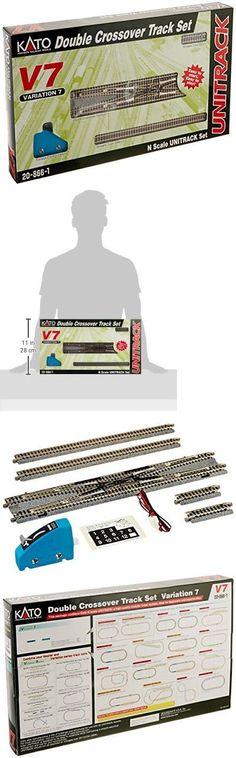 Other N Scale 486: Kato Usa Model Train Products V7 Unitrack Double Crossover Track Set -> BUY IT NOW ONLY: $91.24 on eBay!