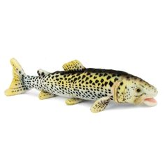 Handcrafted 14 Inch Lifelike Trout Stuffed Animal by Hansa